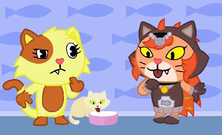 mis personajes de happy tree friends 2ª parte - YouTube |Happy Tree Friends Cat