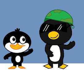 Penguins meet