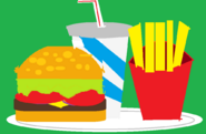 Big Picture - Burger, fries and a drink