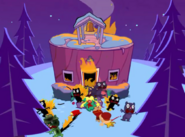 Burning school escape