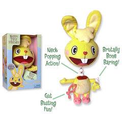 一个豪华Cuddles玩具有血腥的效果。