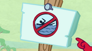 S1E6 Water You Wading For the sign