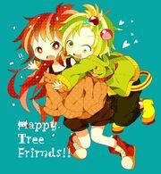 Tags Anime, Happy Tree Friends, Flaky, Nutty, Pi