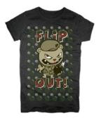 Flip Out Black Juniors&Ladies T Shirt Tee