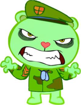 Flippy Toothy Cuddles Sniffles Lumpy, Happy Tree friends PNG | PNGWave | 364x349
