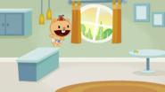Cub leaps
