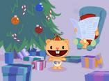 Pop and Cub's Christmas Smoochie