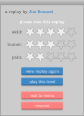Replay menu