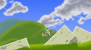 Happy Green Hills - Traversing the Rocks