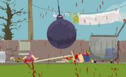 A fake wrecking ball