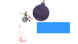 Happy Wheels wrecking ball in action