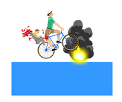 Happy Wheels landmine in action