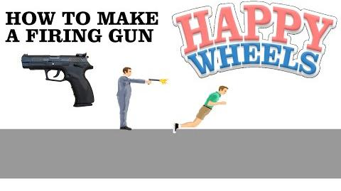 Happy Wheels - How to make a firing gun (no blood intended)-0