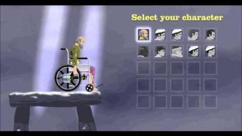 Wheelchair guy falling off the selection screen