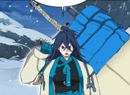 Sora with her giant broad sword (Season 2 Episode 4)