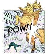 Top Baldhead defeating Wolf in her Giant Werewolf form with a single blow (Episode 78)