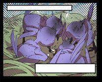 Baby Purple Phoenixes attacking Yopi (Episode 170)