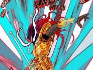 Sehun Kim's avatar on a weapon thrown at Hardcore Leveling Warrior (Episode 1)