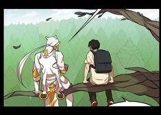 Han Gun-Jae and Yopi talking near the Purple Phoenix's Nest (Episode 170)