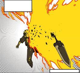 Holy Fire Slash's effect on Nightmare Drip Soup (Season 2 Episode 28)