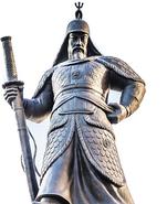 Admiral Yi Sun-Shin statue in Sejongno, Gwanghwamun Plaza in Seoul, South Korea