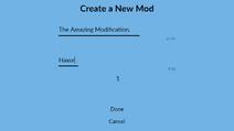 Create a New Mod