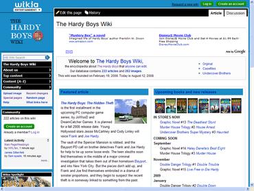 The Hardy Boys Wiki new skin screen