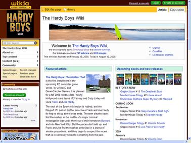 The Hardy Boys Wiki old skin screen