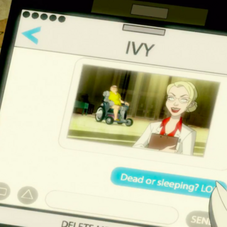 Doctor Quinzel appears in Harley's phone