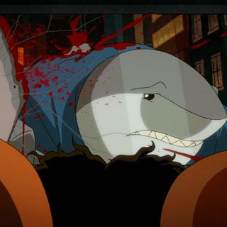 King Shark's fin blown off