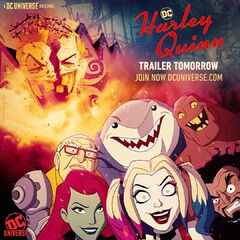 Promotional image for the <i>Harley Quinn</i> trailer