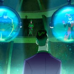 Joker chooses between Batman and Harley