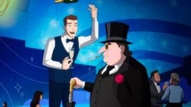 Clayface as a waiter