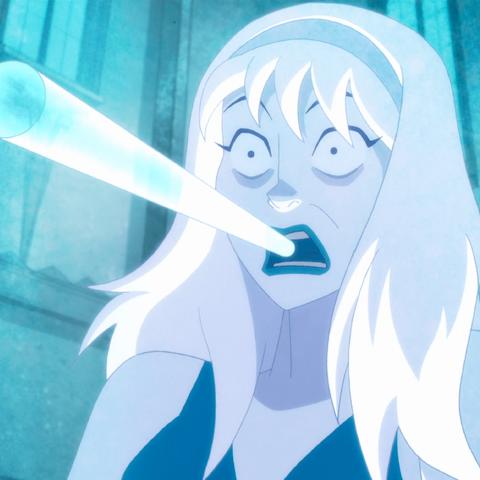 Nora frozen in ice