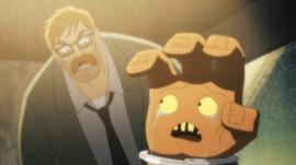 Gordon interrogating The Arm