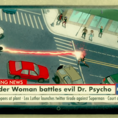Doctor Psycho fights Wonder Woman