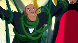 Ivy threatens Lex Luthor