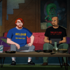 Caricature in the beginning of the episode