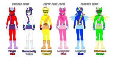 Pegasister Rangers Suits (bases by ameyal)