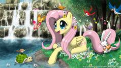 Fluttershy s paradise by johnjoseco-d460xyz