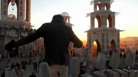 William Close plays the Earth Harp at the Temple of Transition Burning Man 2011
