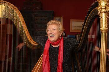 Elinor bennett with erard harps