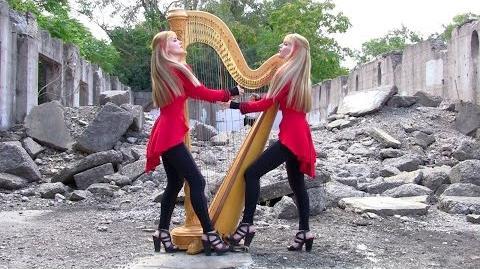 "METALLICA ""One"" - 2 Girls 1 Harp (Harp Twins)"