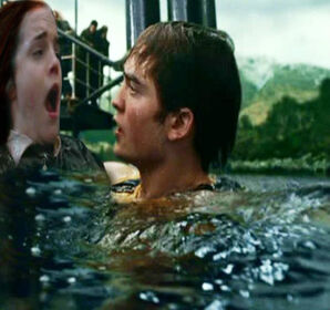 Cedric Diggory saving Willa Granger as part of the second task