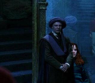 Quirell holding willa hostage