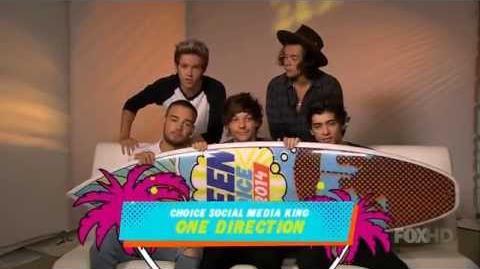 HD One Direction Teen Choice Awards 2014 Acceptance Video