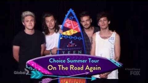 One direction (8 awards) - teen choice awards 2015