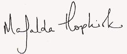 Mafalda Hopkirk sig