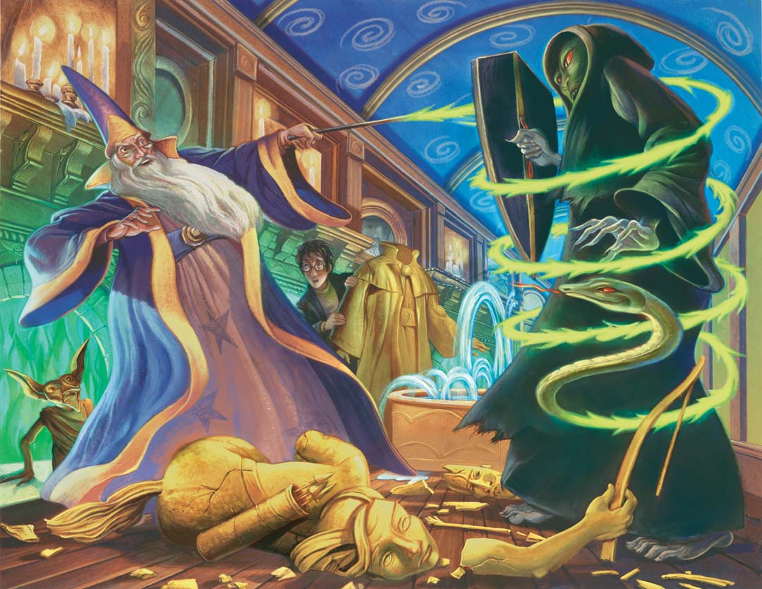 Duel in the Ministry Atrium   Harry Potter Wiki   FANDOM powered by