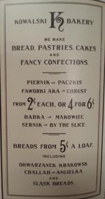 Kowalski Bakery menu